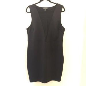 3X Forever 21 Sheer Panel Dress